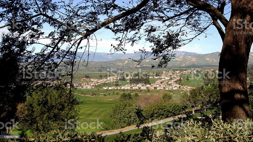 Village Through the Trees stock photo
