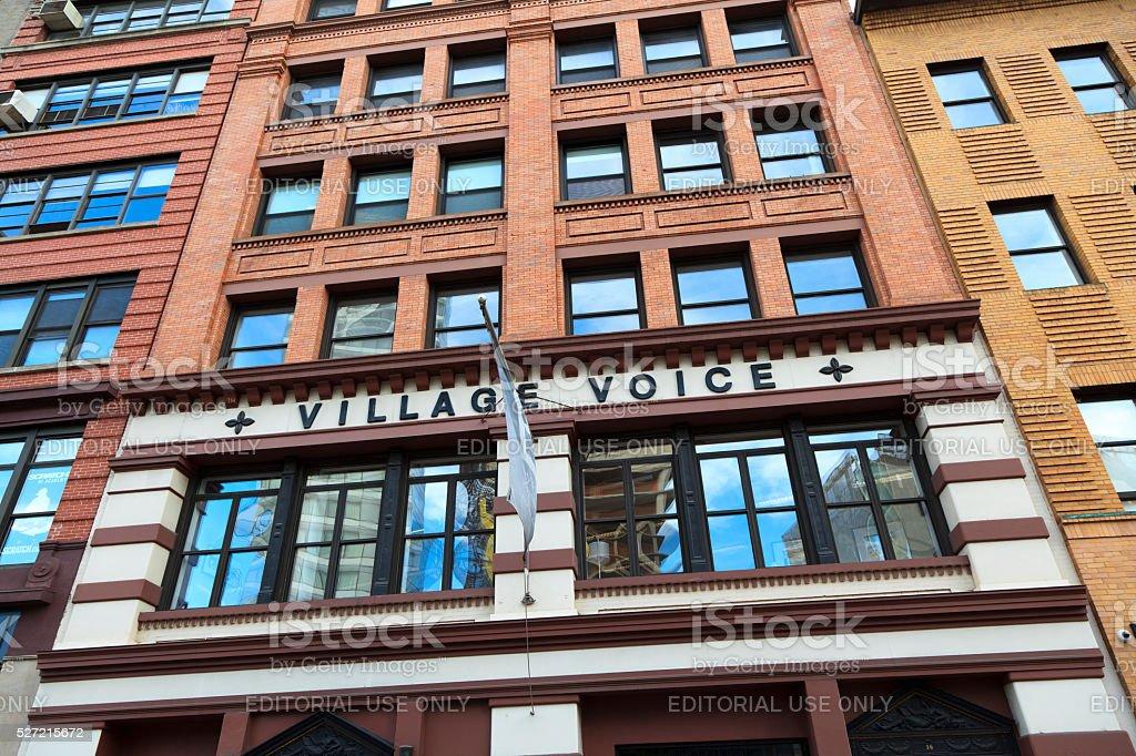 Village Voice stock photo