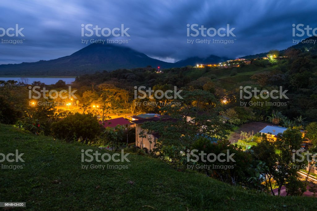 Village with highlighted buildings royalty-free stock photo