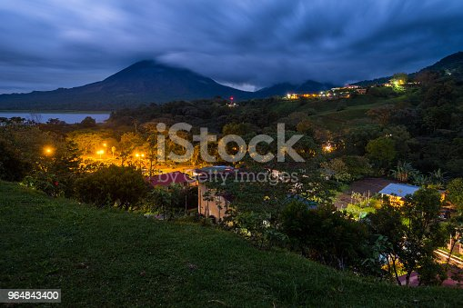 Village With Highlighted Buildings Stock Photo & More Pictures of Building Exterior