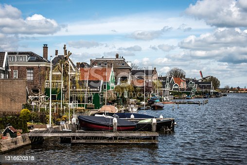 istock Village With Rowboats And Neighborhood In The Netherlands 1316620318