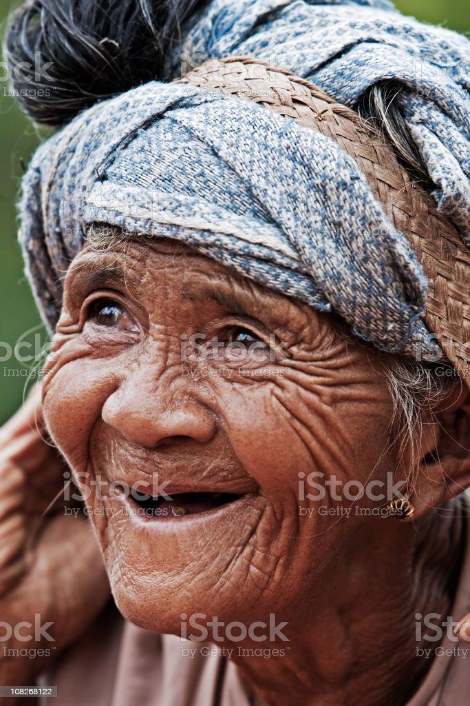 Village woman royalty-free stock photo