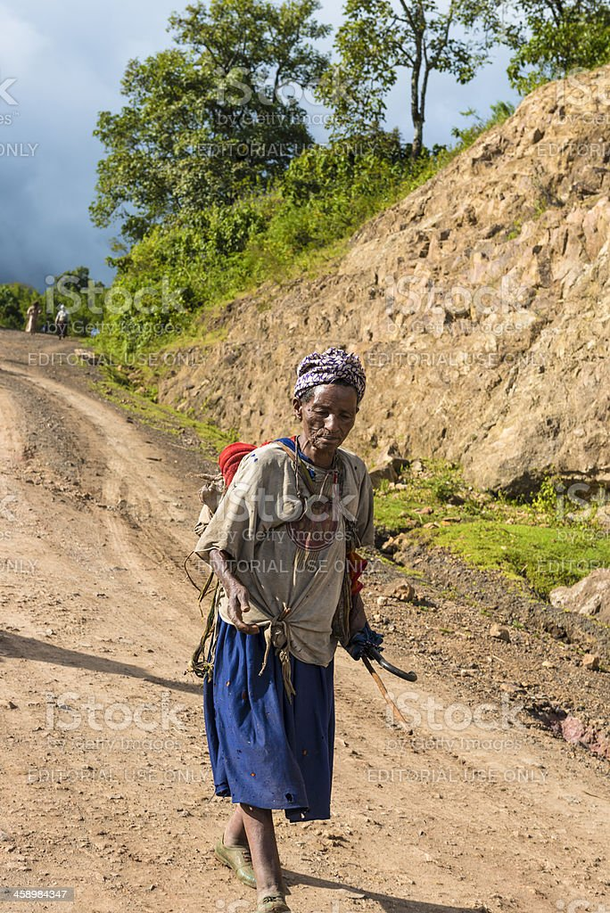 Village woman royalty-free stock photo