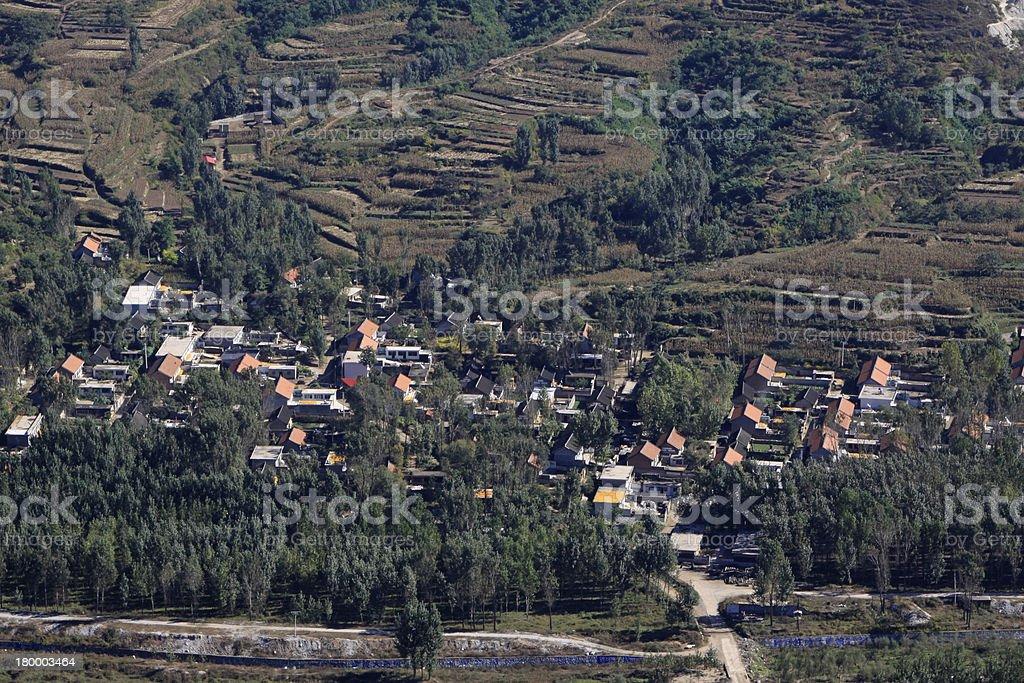 마을 및 숙소 royalty-free 스톡 사진