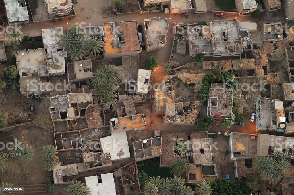 Villages near Aswan in Egypt stock photo