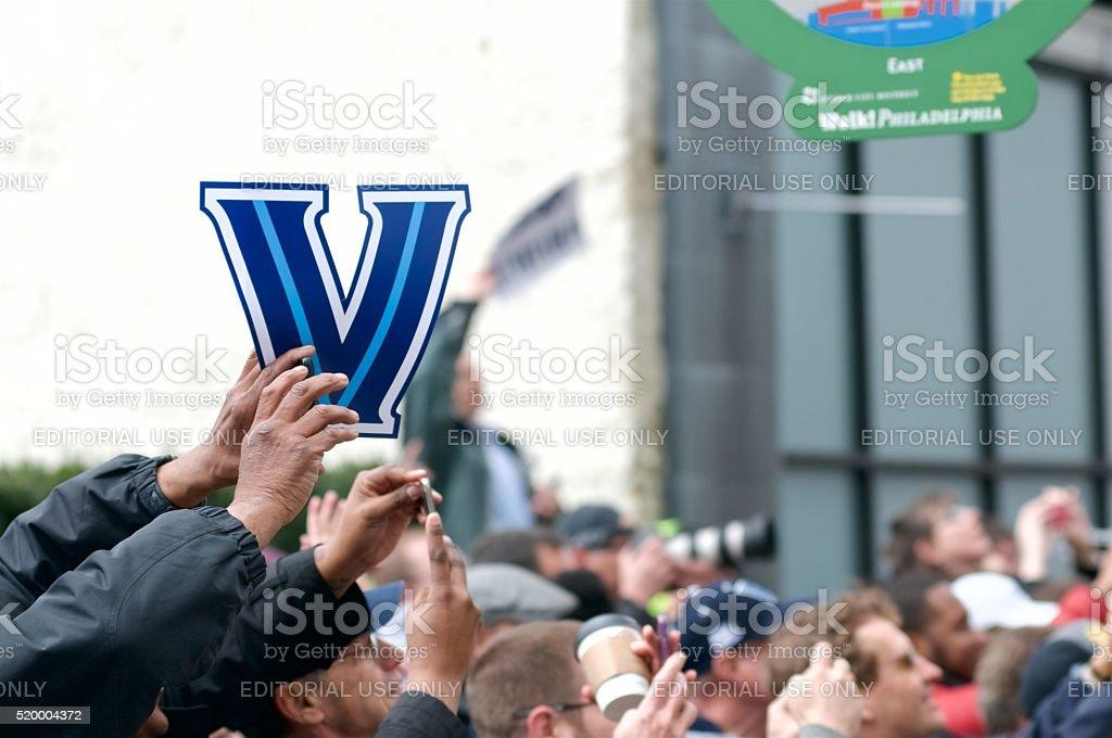 Villanova Wildcats NCAA Championships Parade in Philadelphia, PA stock photo