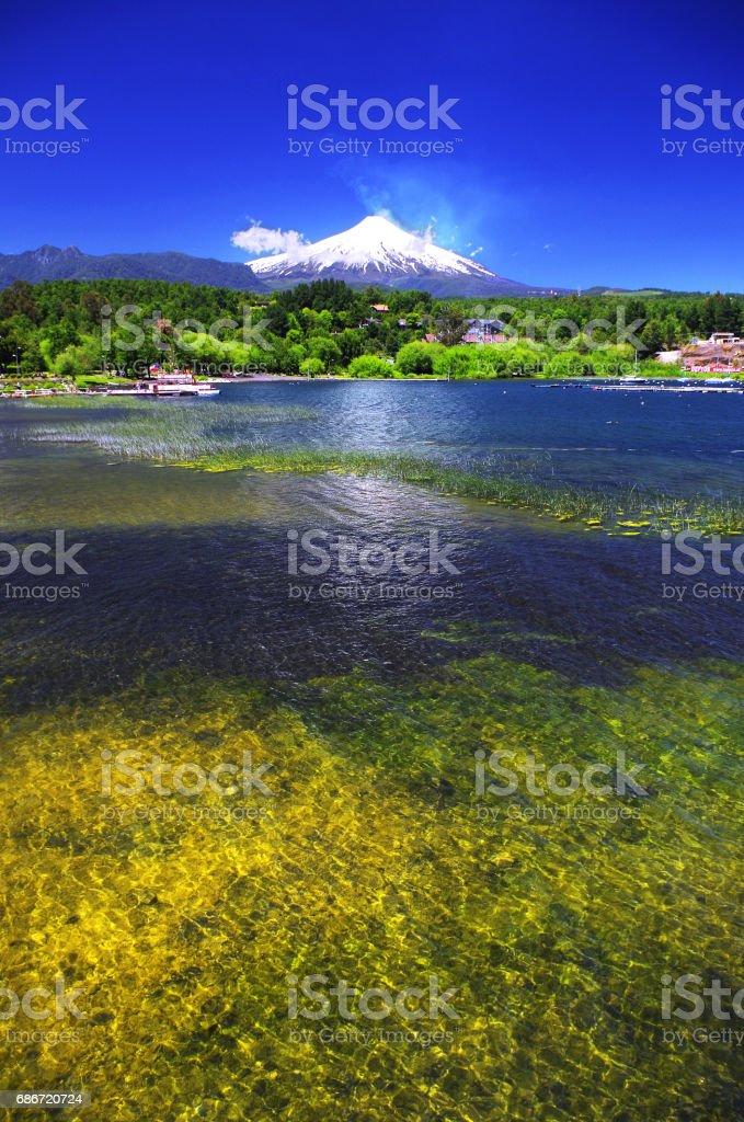 Villarica, Chile stock photo