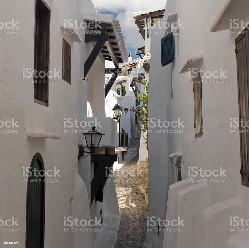 Villas and alley royalty-free stock photo