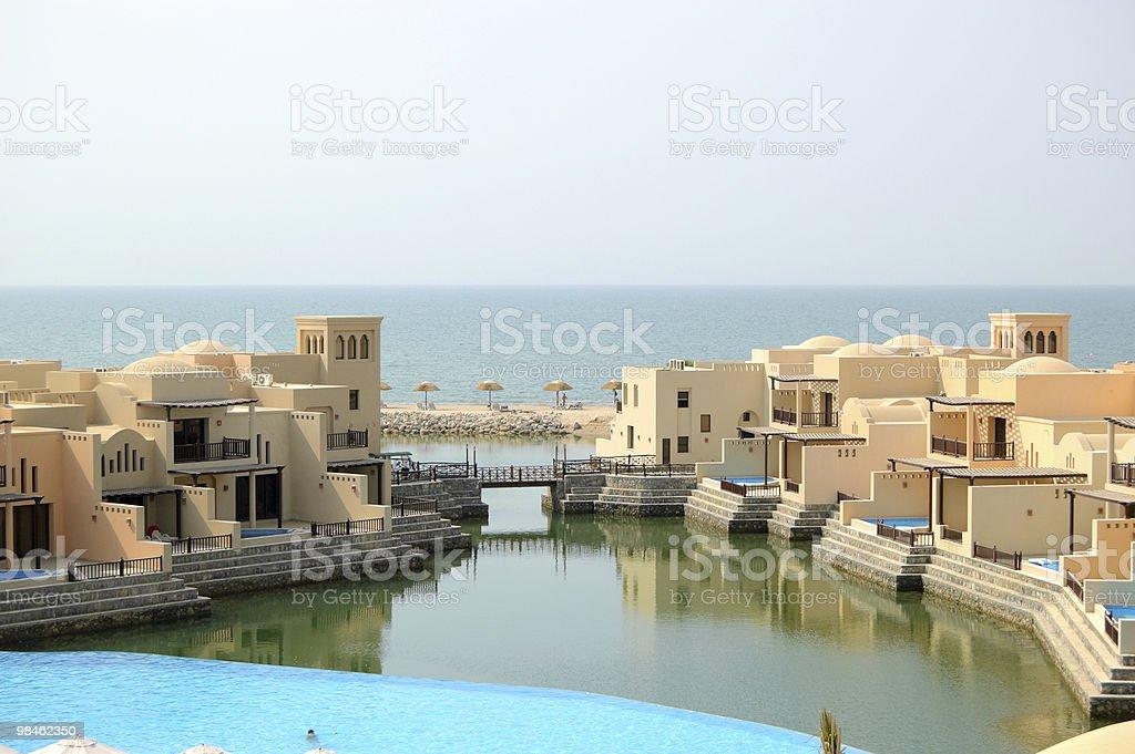 Villas in luxurious hotel, Dubai, UAE royalty-free stock photo