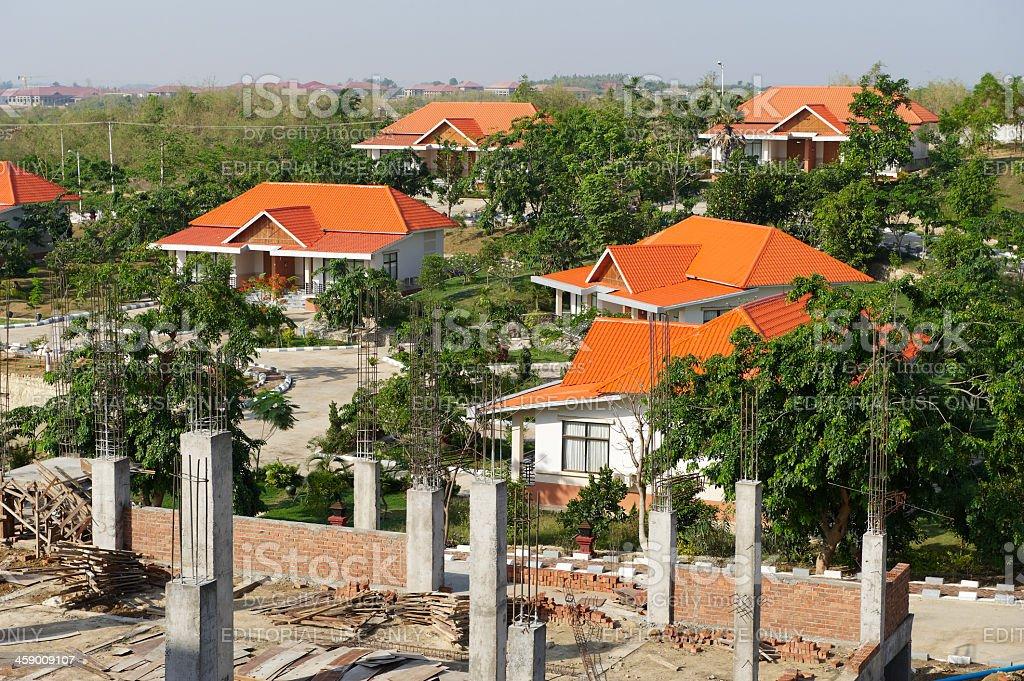 Villas in Naypyitaw royalty-free stock photo