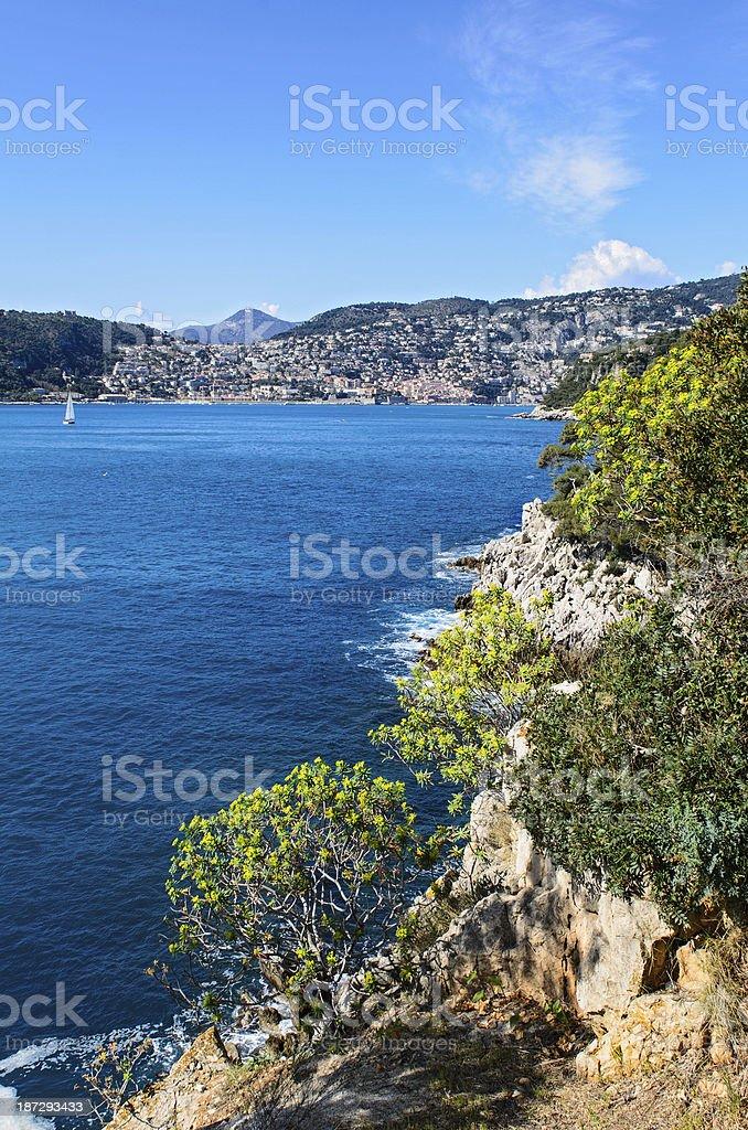Villefranche Bay from Cap Ferat royalty-free stock photo