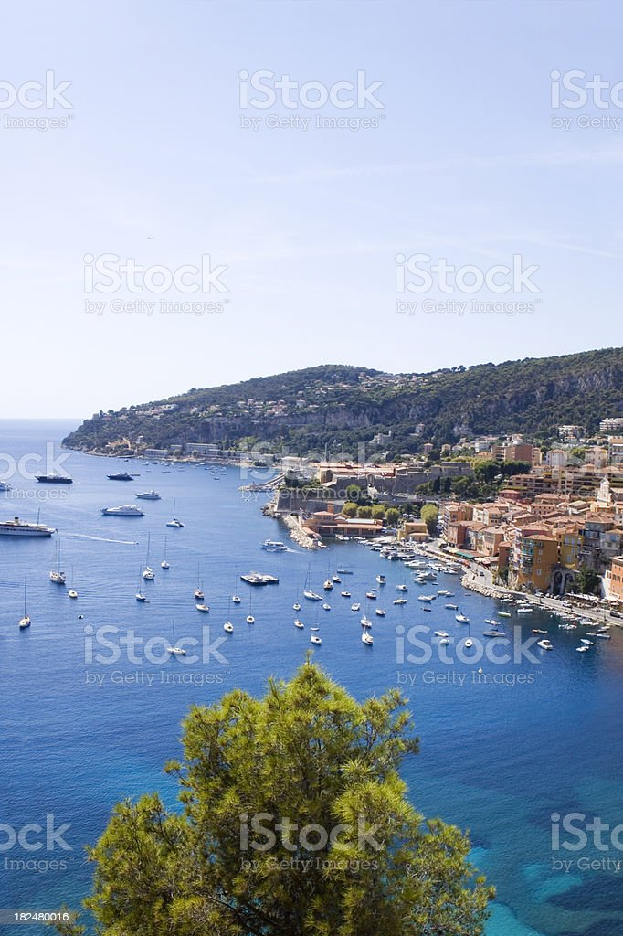 Villefranche French Riviera royalty-free stock photo