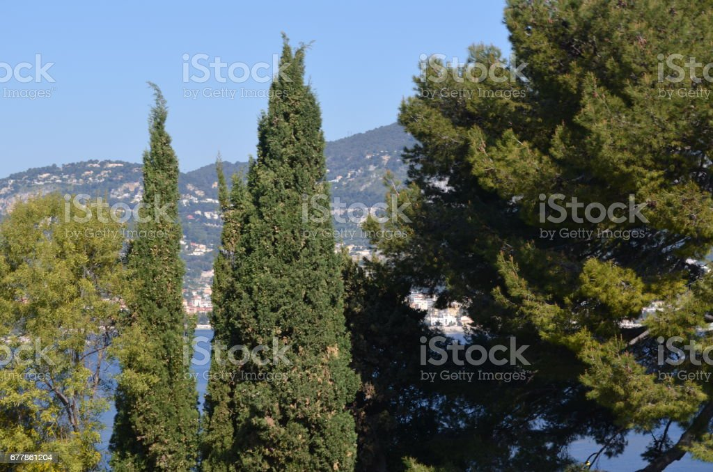 Villefranche, no sul da França na famosa Riveira Francesa royalty-free stock photo