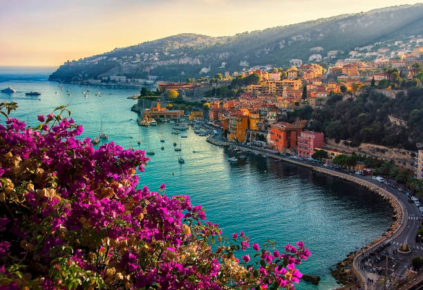 villefranche sur mer - europe travel stock photos and pictures
