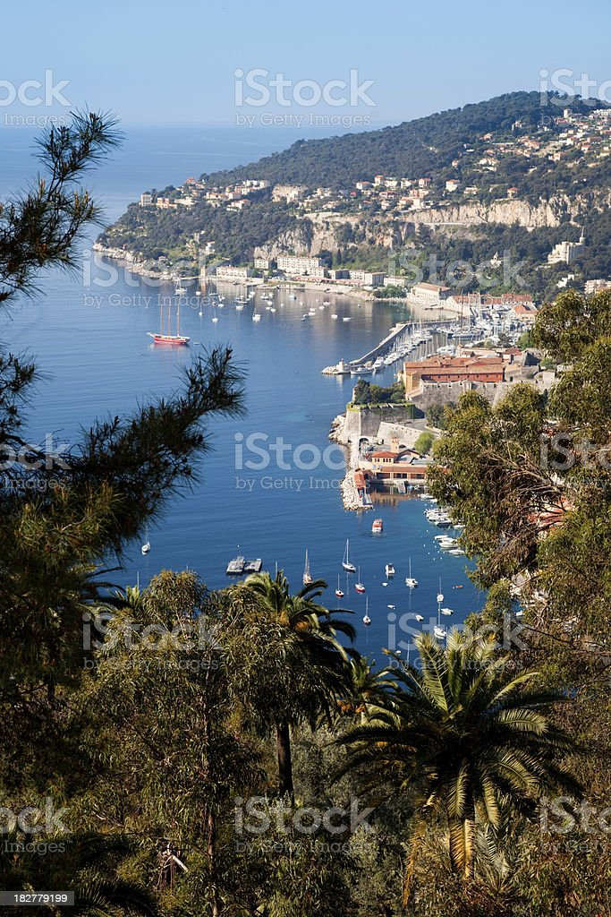 Villefranche sur Mer in Cote d'Azur (vertical) royalty-free stock photo