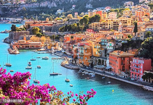 istock Villefranche-sur-mer village in France 1248448159