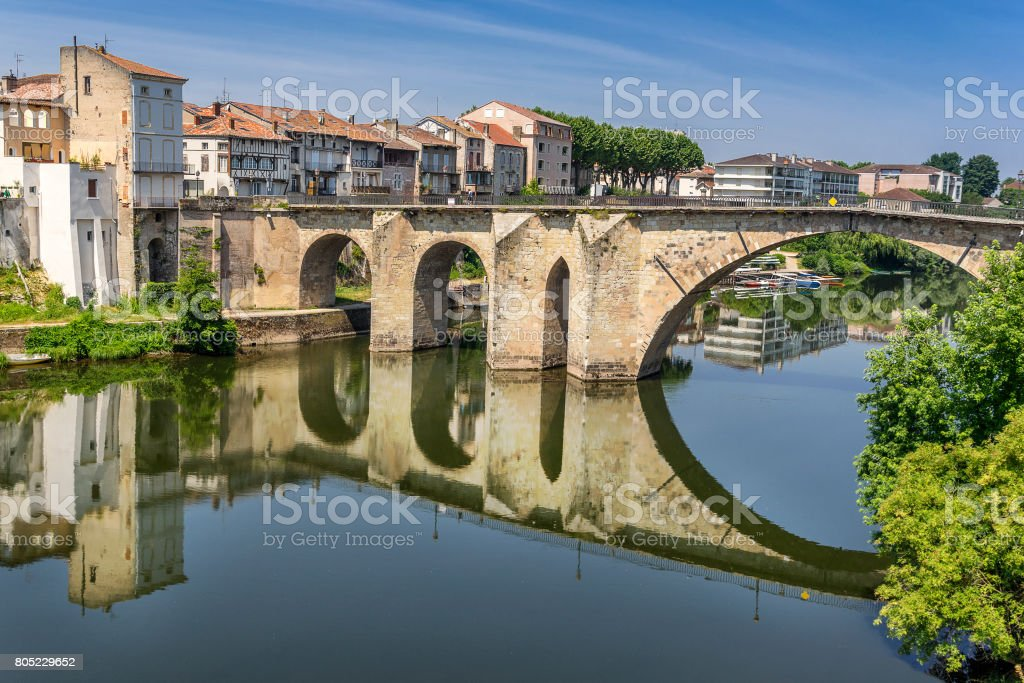 Villeneuve Sur lot stock photo