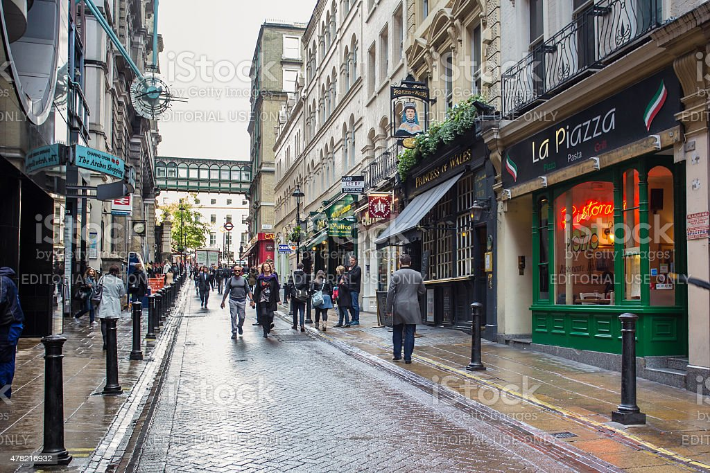 Villiers Street The Strand London stock photo