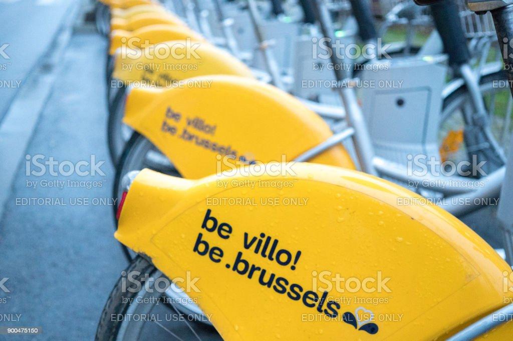 Villo! bicycle rental programme stock photo