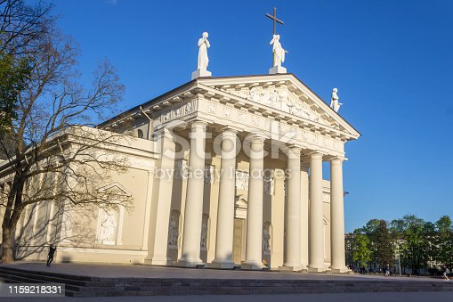 istock Vilnius, Lithuania - May 08, 2019: Vilnius Cathedral Square, cathedral. 1159218331