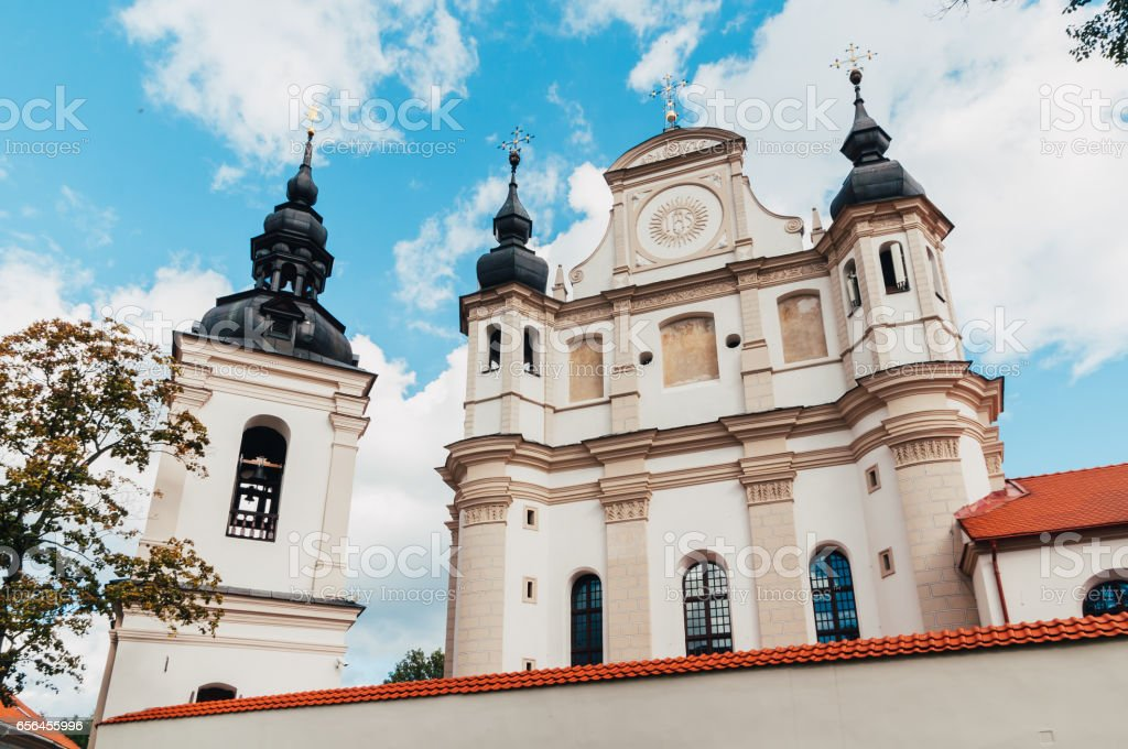 Vilnius church stock photo