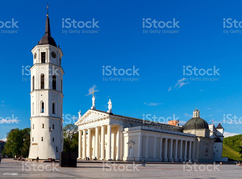 Vilnius. Lithuania. Cathedral Square. stock photo