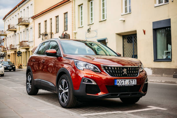 Vilnius, Lithuania. Peugeot 3008 Is A Compact Crossover Suv Manufactured By French Automaker Peugeot stock photo