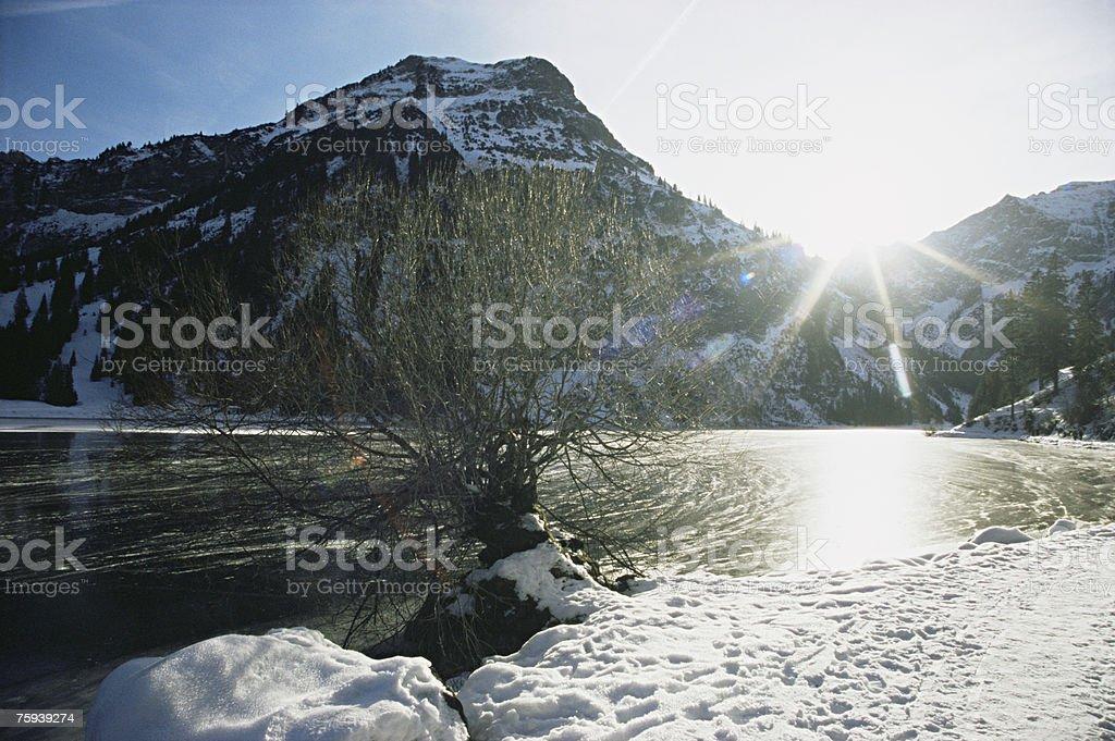 Vils alp lake royalty-free stock photo