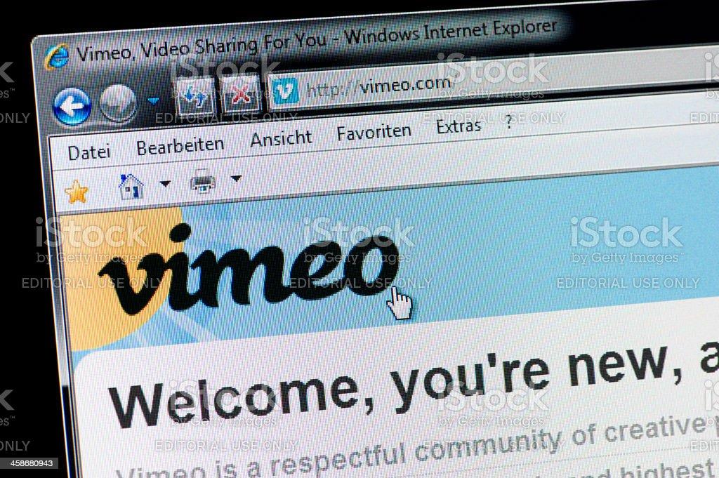 vimeo - Macro shot of real monitor screen stock photo