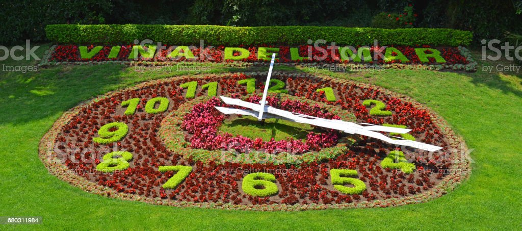 Vina del Mar Flower Clock stock photo