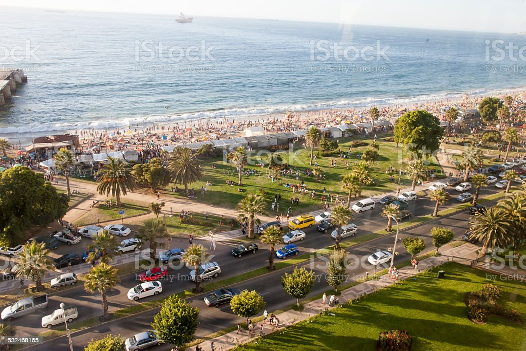 Vina del Mar in Chile stock photo
