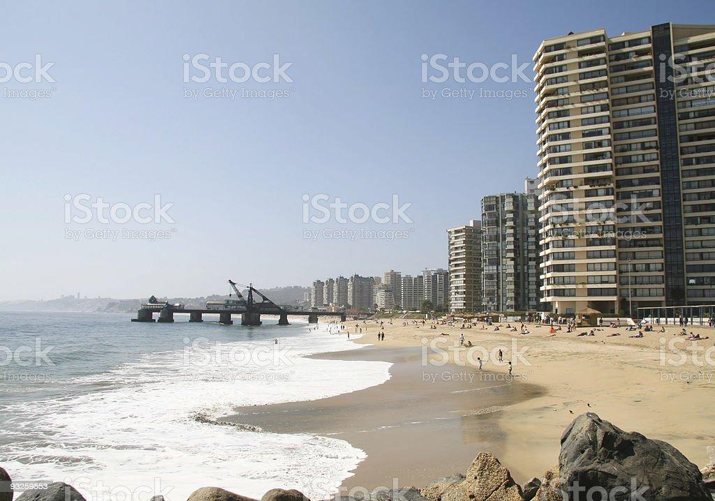 Vina del Mar in Chile stock photo