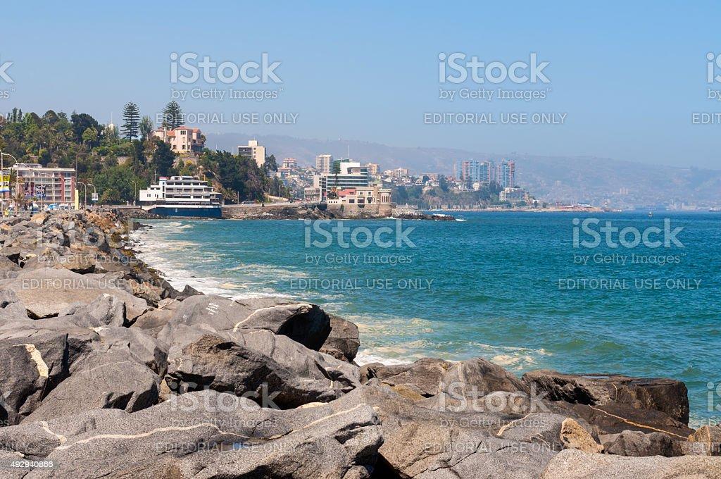 Vina del Mar, Valparaiso Region in Chile stock photo
