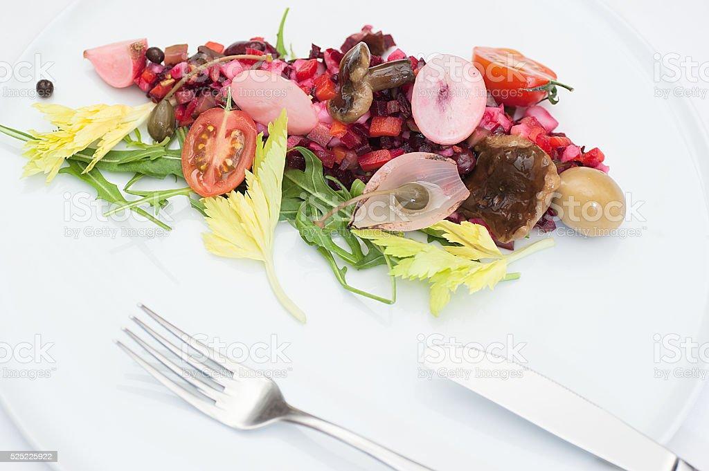 Vinaigrette Russian Salad stock photo