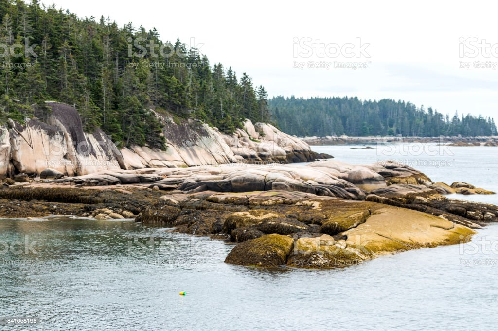 Vinalhaven Island from the water stock photo
