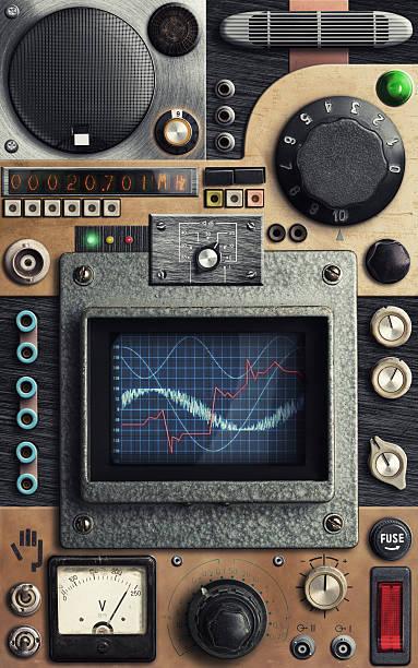 Vinatge control panel stock photo