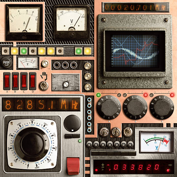 vinatge control panel - steampunk stock photos and pictures