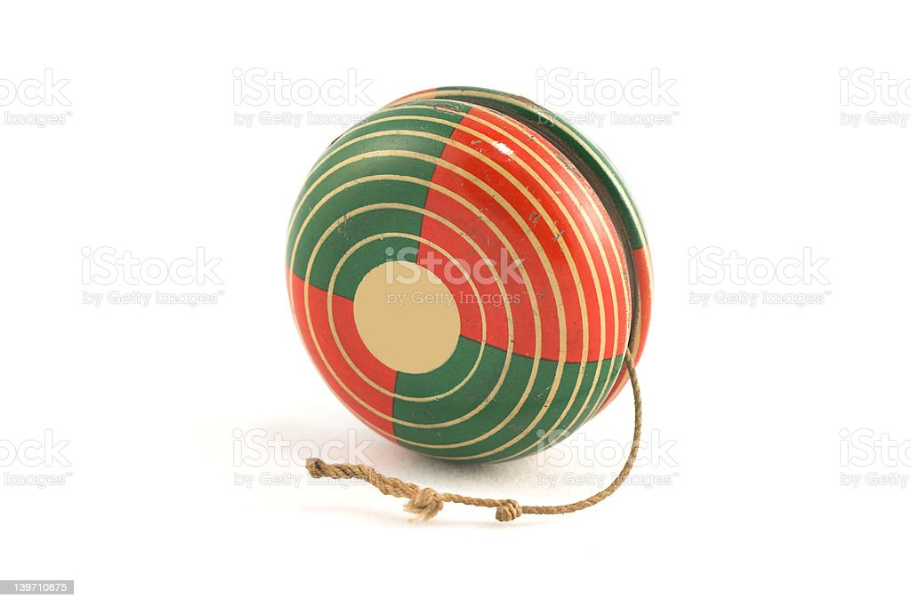 Vinatge Tin  YoYo royalty-free stock photo