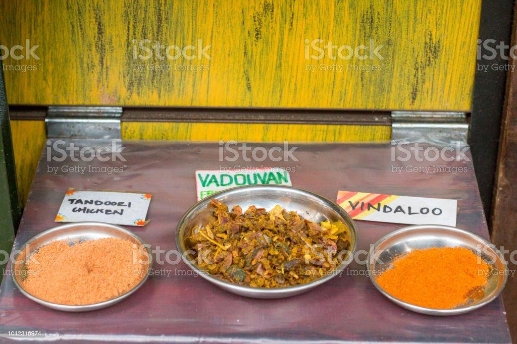Vindaloo in Borough Market, London stock photo