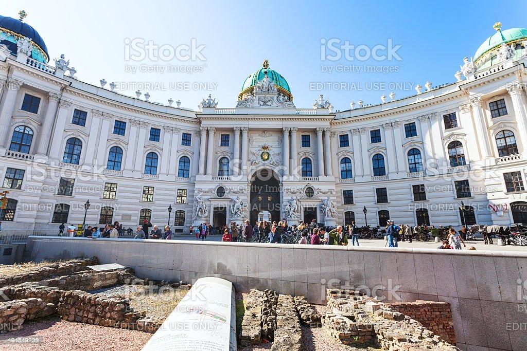 Vindobona settlement on Michaelerplatz, Vienna stock photo