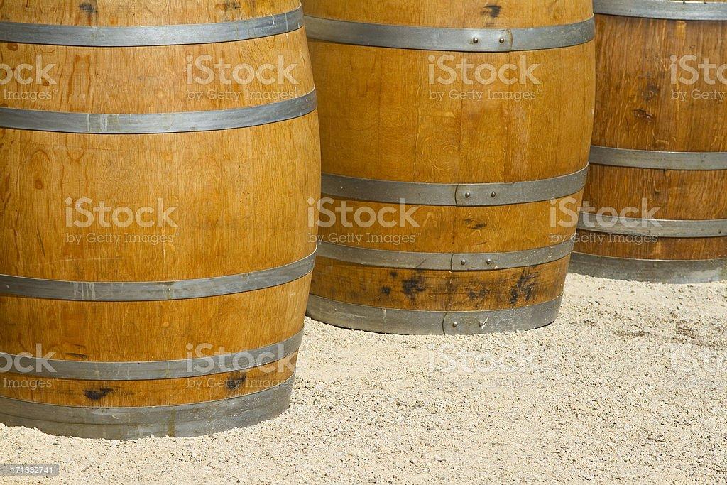 vine barrels stock photo
