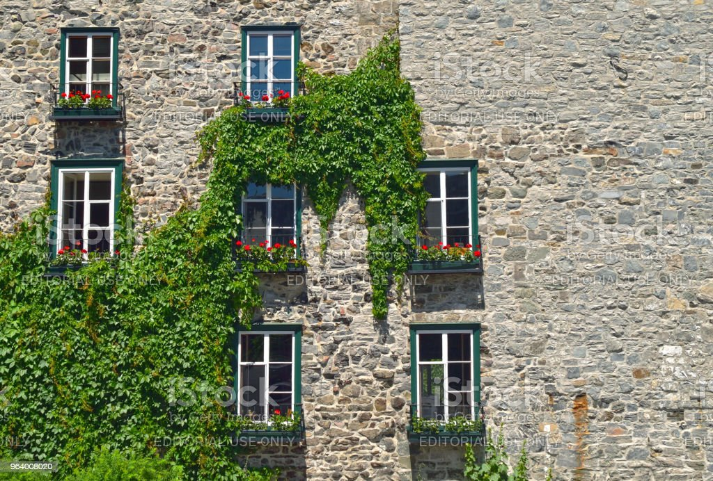 Vine Covered Historic Building in Old Quebec - Royalty-free Architecture Stock Photo