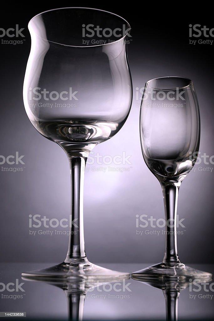 vine glases royalty-free stock photo