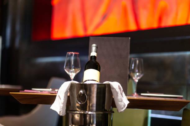 Vine on  table stock photo