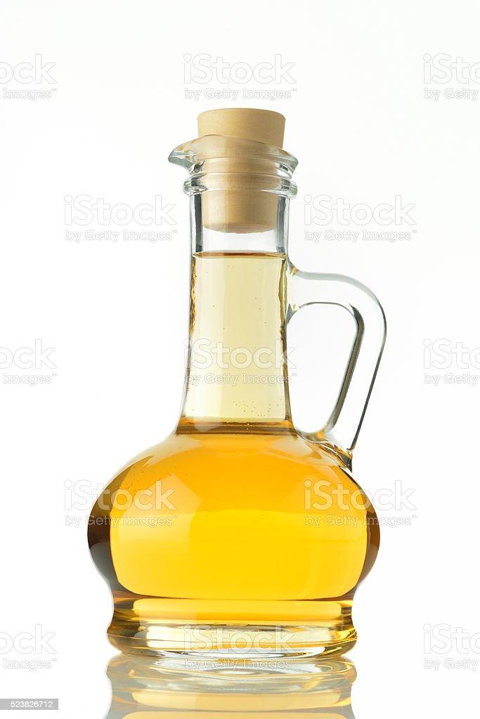 Vinegar Bottle on White Background stock photo