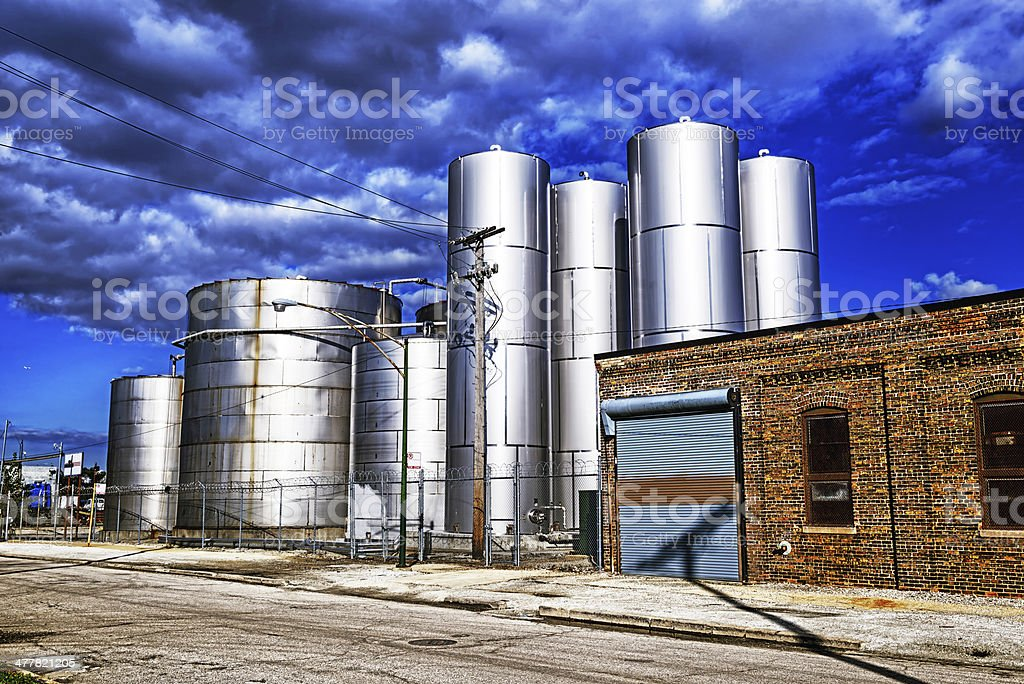 Vinegar Factory in New City, Chicago royalty-free stock photo