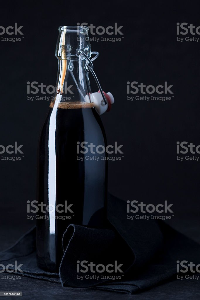 vinegar open bottle royalty-free stock photo