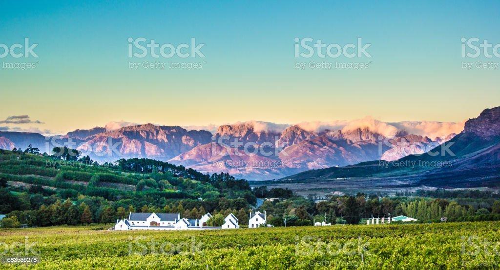 Vineyard mountian lodge stock photo