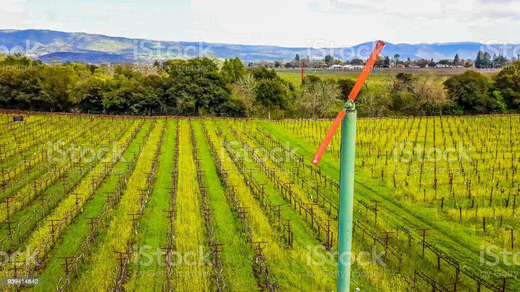 Vineyard Wind Machine stock photo