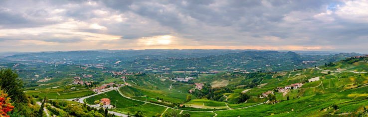 948424058 istock photo Vineyards in the Langhe, a hilly area mostly based on vine cultivation and well known for the production of Barolo wine. Province of Cuneo, Piedmont, Italy (6 shots stitched) 948416654